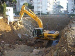 excavación a cielo abierto