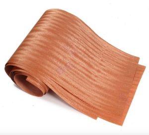 chapado con listones de madera